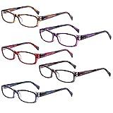5-Pack Reading Glasses Blue Light Blocking Anti Eyestrain Computer Reading Glasses for Women and Men Readers (5 Pairs...