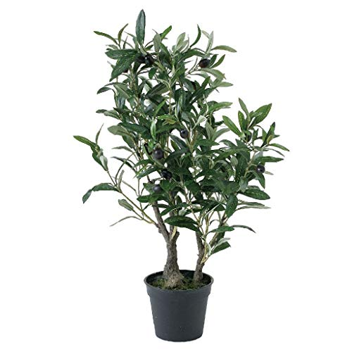 SPICE OF LIFE(スパイス) 造花 フェイクグリーン オリーブの木 高さ60cm 鉢植え 観葉植物 CXGK1012