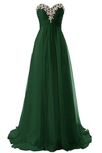 JAEDEN Prom Dress Bridesmaid Dresses Long Prom Gown Chiffon Formal Evening Gowns A line Evening Dress Dark Green US20W