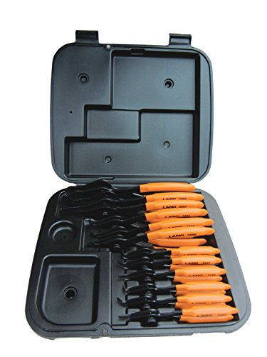Kastar Hand Tools (KAS3495) 12 Piece Combination Interior/Exterior Retaining Ring Pliers Set -