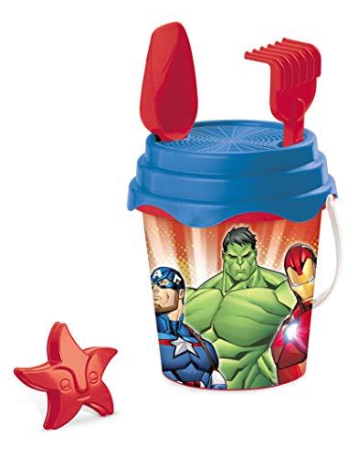 Mondo Toys Marvel Avengers Bucket Set, Set Mare Renew Toys con Secchiello, Paletta, Rastrello, Setaccio, Formina, Annaffiatoio Inclusi, 28431