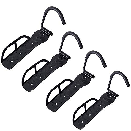 Fitprobo Bicycle Hooks Wall Mounted Vertical Bike Hanger 4PCS for Mountain Road Folding Bikes Max Load 66Lb