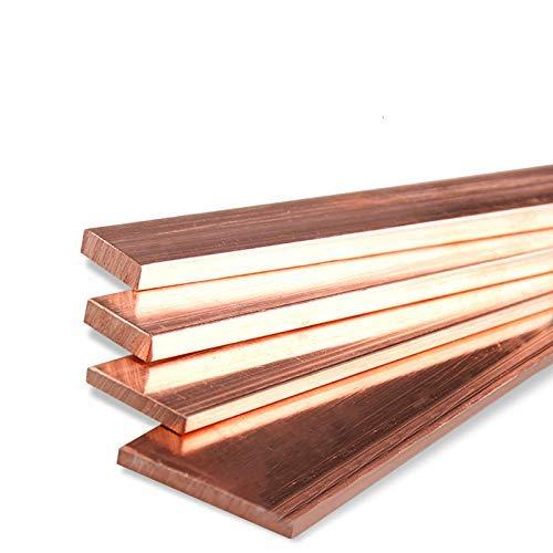 T2 99,95% reines Kupfer Bar Kupferblech reines Kupfer Reihe reines Kupfer Streifen Kupferstreifen Rot Kupferstreifen Dicke 3/4/5 mm Breite 8/15/20/30/40/50 mm Länge 100/200/300/400 mm, 4x40x100 mm, 1
