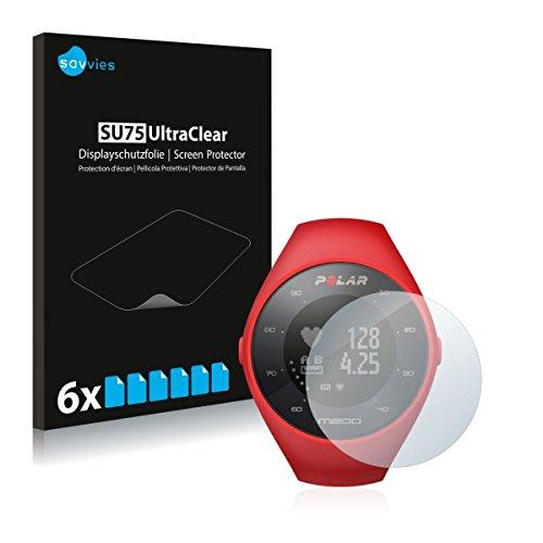 6X Savvies SU75 UltraClear Bildschirmschutz Schutzfolie für Polar M200 (ultraklar, mühelosanzubringen)