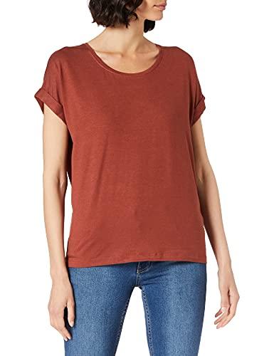ONLY Damen Onlmoster S/S O-neck Top Noos Jrs T Shirt, Henna, L EU