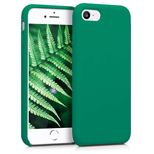 kwmobile Cover compatibile con Apple iPhone 7/8 / SE (2020) - Custodia in silicone TPU - Back Case protezione cellulare verde smeraldo