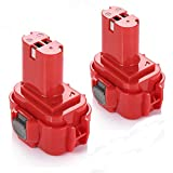 Upgraded Powerextra 9.6V 2000mAh Replacement Battery for MAKITA 9120 9122 192595-8 192596-6 192638-6 193977-7 638344-4-2 (2 Pack)