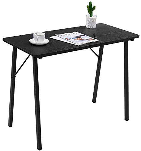 Computer Desk 40 inch Kids Writing Desk for Small Spaces Students Study Table Home Office Wood Work Desk for Corner Bedroom Modern Portable Laptop Desk for School PC Gaming, Black