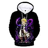 Zcbm 3D Anime Stampato One Piece Donquixote Doflamingo Felpe con Cappuccio Manica Lunga Pullover Sport Allaperto Hooded Sweatshirt Abbigliamento Unisex,XXXL
