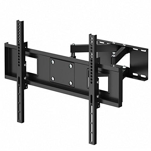 BONTEC TV supporto mensola con doppio braccio inclinare girare installare sulla parete per LED LCD plasma schermo piatto da 30 a 70 pollici