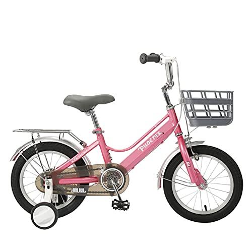 Axdwfd Infantiles Bicicletas Bicicleta para niños Plegables, Bicicletas de Carretera de 14/16 / 18 Pulgadas, con Ruedas de Entrenamiento Desmontable, 3-13 años, niños y niñas