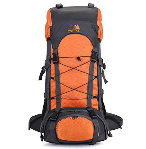 Phil Beauty Mochila De Senderismo 60L Impermeable Mochila De Escalada para Camping Ciclismo Deportes Al Aire Libre Morral para Viajes Acampadas,74X32x20cm,Naranja