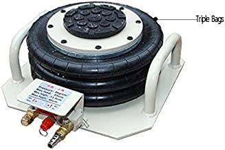 INTBUYING Portable 6600lbs 3Tons Triple Bag air Jack Pneumatic Lift Car Repair Inflatable Bladder Jack -Beige Short Handle