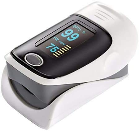 MKKSLR-Oximeter, digitales Spo2-Fingerspitzen-Pulsoximeter Medizinische Geräte Pulsioximetro Finger-Pulsoximeter-Herzfrequenzmesser (Farbe: Lila)