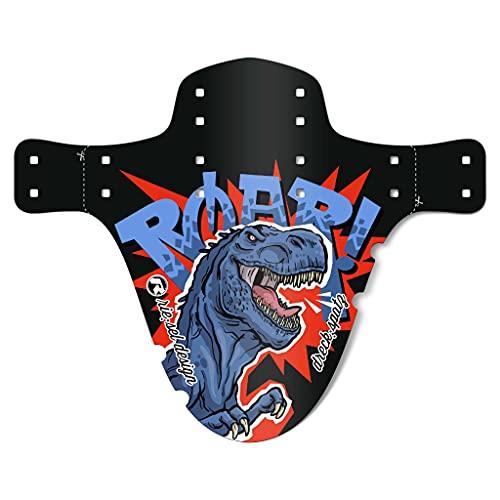 """Riesel Design® - \""""Dreck:Spatz Schutzblech Kinderfahrrad/Front Spritzschutz für Kinder Fahrrad oder Mountainbike/Mudguard 20-29 Zoll für Jungen & Mädchen - Werkzeugfreie Montage - Dino Boy"""