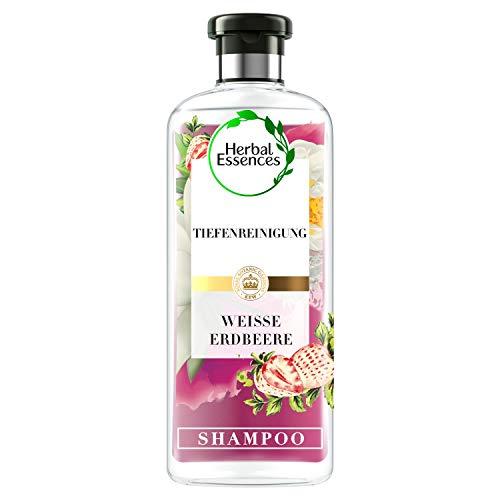 Herbal Essences PURE:renew Weiße Erdbeere & Süße Minze Tiefenreinigung Shampoo, 250 ml, Shampoo Damen, Haarpflege, Minze Shampoo, Erdbeere Shampoo, Shampoo Fettiges Haar