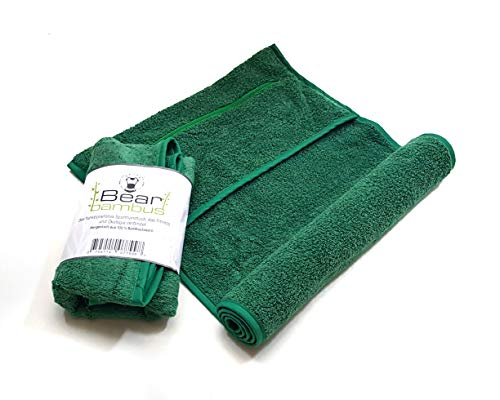 Bear bambus Sport-Handtuch aus Bambus mit kostenlosem Trainingsguide (PDF); nachhaltig, kühlend, antibakteriell und schnell trocknend; Fitness-Handtuch; ideale Größe fürs Fitness-Training (90 x 40 cm)
