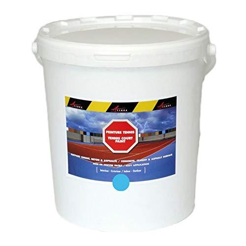 Arcatenis - Vernice per campo da tennis cemento poroso colore linea ristrutturazione antiscivolo palestra Arcatenis – blu – 25 kg fino a 50 m2 per 2 strati – Arcano Industries