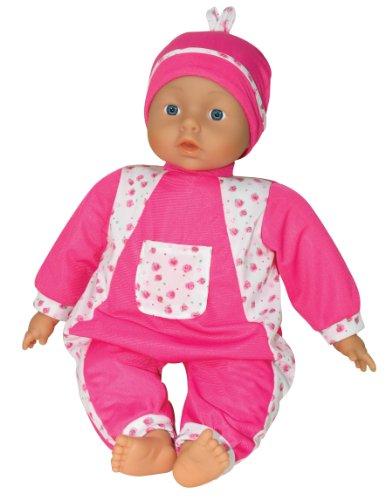 LISSI DOLLS 81806 - Isabel Sprechpuppe mit 6 verschiedenen Babylauten, Circa 46 cm