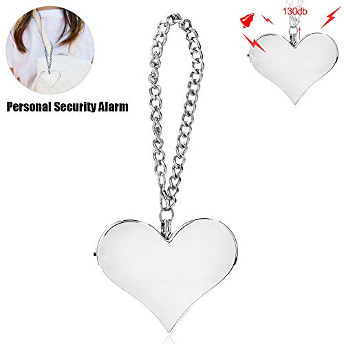 For Sale! Alarm Voice Siren Personal 130DB Heart Shape Personal Security Alarm Keychain Emergency Se...