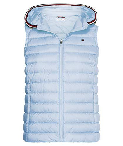 Tommy Hilfiger TH ESS LW Down Vest Chaleco con Forro, Blue, XS para Mujer