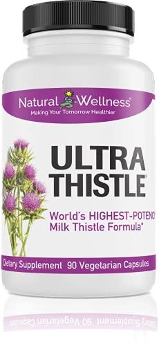 naturals thistles Natural Wellness UltraThistle 360mg - 90 Caps Silybin Phytosome, Milk Thistlefor Liver Detox - Super Absorbing