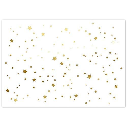 Trendform Paper Platzset Gold Stern, Block mit 24 Blatt, Hotfoil