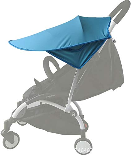 Kyowoll Toldo Protector Solar Universal para Cochecito de Bebé - De gran tamaño Bebé Coche Carritos de viaje Paseo Sombrilla Parasol Protección UV 50+ con Bolsillos Laterales (Azul)
