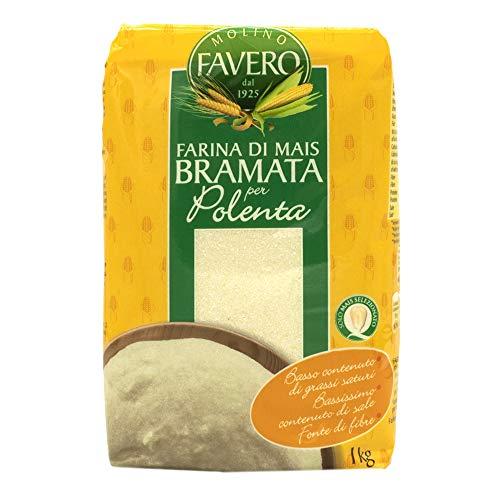 Polenta - Bramata Bianca, Maisgrieß, weiß und grob, Favero, 1 kg