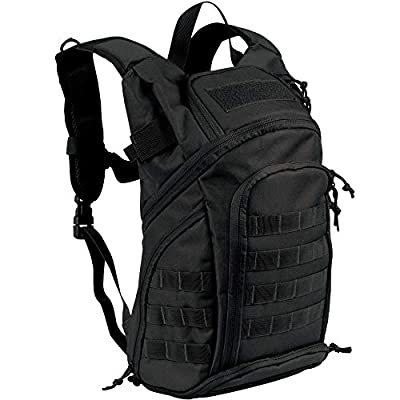 Hannibal Tactical 28L Military Tactical Backpack Small Assault Pack MOLLE Bug Out Bag Waterproof Army Rucksacks for Outdoor Camping Hiking Hunting Black