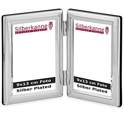 silberkanne Occasions Direct Frames - Cornice portafoto placcata Argento, Motivo Parigi, 2 x 9 x 13 cm