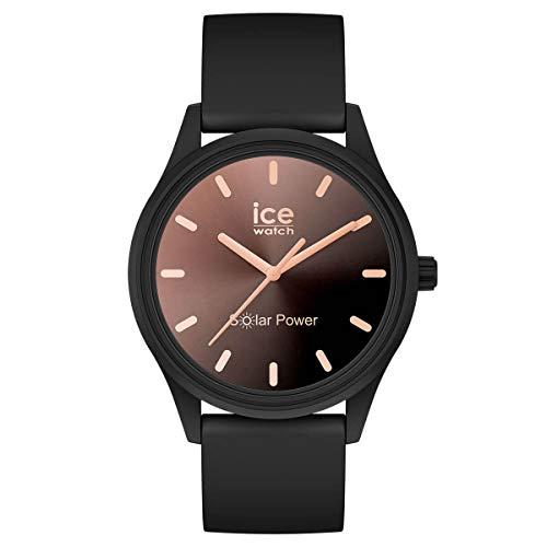 ICE-WATCH ICE Solar Power Sunset Black - Reloj Negro para Mujer con Correa de Silicona, 018477 (Small)