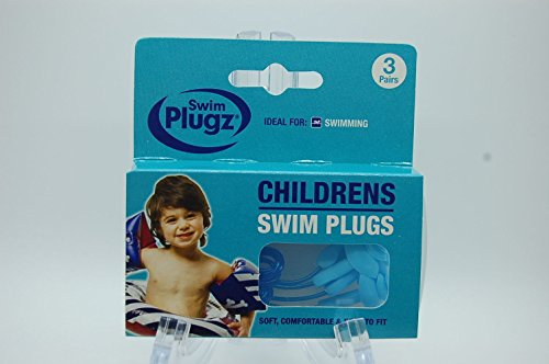 Genuine Children Swim Plugs , Made in Uk , Ear Defenders 3 Pairs