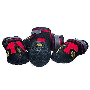 Livecity 4pcs étanche pour animal domestique Chien Chaussures antidérapant confortable réfléchissant Bottes