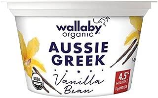 Wallaby Organic Greek Whole Milk Yogurt, Blended Vanilla Bean, 5.3 oz