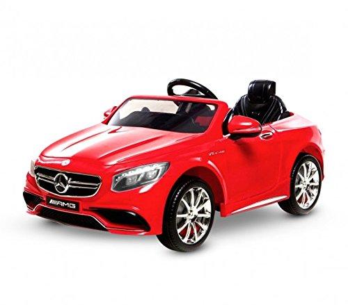 Auto Macchina Elettrica Mercedes S63 AMG Rossa 12V 1 Posto Per Bambini