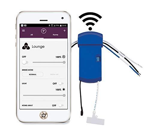 Fanimation WFR6235 FanSync Smart WiFi Receiver for Drone Ceiling Fan, 1.22x5.04x2.52, Blue