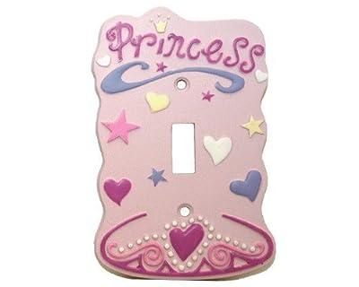 Pink Princess Single Switch Plate Nursery Decor Lightswitch Cover