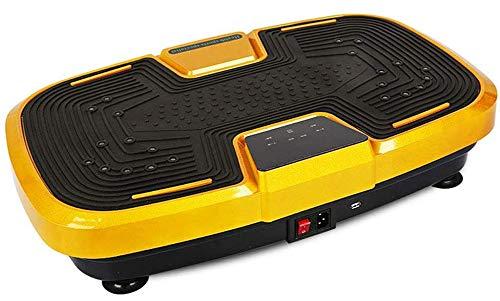DZKU Vibrationsplatte Testsieger, Vibrationsgeräte Beinmassage Fußmassage rutschfest, Leisem 99 Stufen,LCD Display,Bluetooth Lautsprecher, Fernbedienung Trainingsbänder,Belastbar 120 Kg