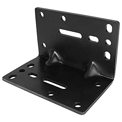 AConnet Winch Mounting Plate Universal Towing Winch Mounts Heavy Duty Winch Operation Mounting Bracket for 600lbs to 3500lbs Trailer Winch Mount