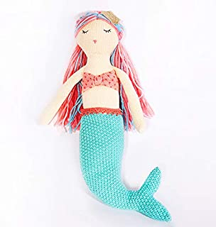 MON AMI Plush Mermaid Toy, Ocean Collection Knit Crochet, Stuffed Mermaid Toy, Baby & Toddler Gift, Multi-Color, 15