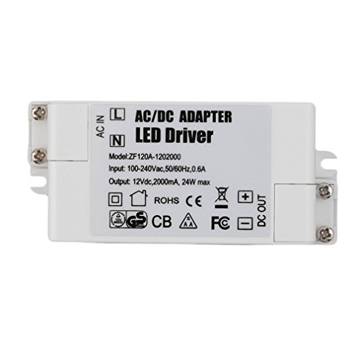 12/V Transformateur LED Extra plat Courant continu CC de 0//à 6/Watts