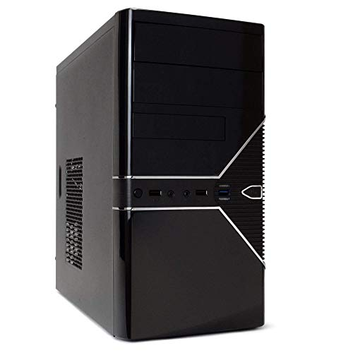 Periphio 560 Gaming PC Desktop Computer, Intel Quad Core i5 3.2GHz CPU, AMD Radeon RX 560 4GB DDR5 Graphics Card,...