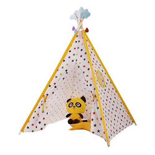 Tienda de campaña para juegos de interior Teepee Indian Teepee – Tienda de campaña para niños – Tienda de campaña para niños – Juego divertido – Tienda de club infantil (color amarillo)