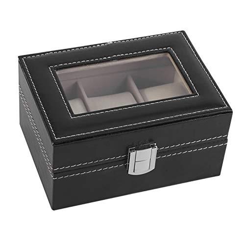 Caja De Almacenamiento De Reloj, 3 Tragamonedas Portátil Portable Tienda Aparato De Pantalla Caja De Caja Reloj De Pulsera Lujo Hebilla Joyería Organizador Mujer Regalo,Negro