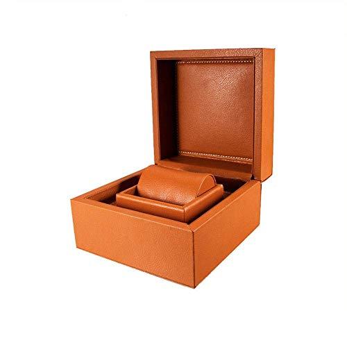 GUOCAO Caja de almacenamiento para relojes de piel sintética de alta gama, caja de joyería para relojes (color: negro, tamaño: S), pantalla (color: negro, tamaño: pequeño)