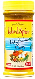 Island Spice Hot Indian Curry-Product of Jaimaica -THREE 6 oz Jars