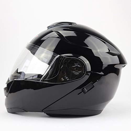 FLY® Casque Intégral De Casque De Moto Pare-soleil Moto Double Coque, ABS, Pour Hommes Et Femmes, Noir (taille : XXL)