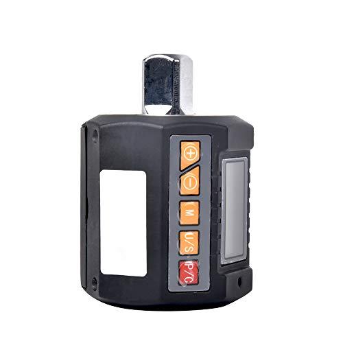 Digitaler Drehmomentadapter, elektronisches Drehmomentmessgerät mit LCD-Anzeige Drehmoment in Nm, kg-cm, Ft-lb, In-lb Drehmomentschlüsselbereich 13,5-135 Nm messen