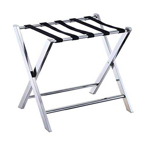 Best Deals! GDXLJ Folding Luggage Rack Hotel Room Foldable Luggage Rack, Stainless Steel Bedroom She...
